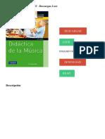 Didáctica de la música Descripción
