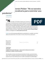 Coronavirus. Steven Pinker_ _No se necesita una dictadura totalitaria para controlar una pandemia_ - LA NACION