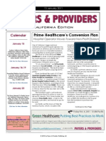 Payers & Providers – Issue of January 13, 2011