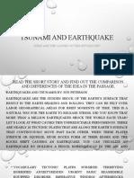 Tsunami and earthquake