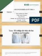 El Código de Etica de Los Médicos en Ecuador