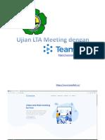 Ujian LTA Meeting dengan Teamlink