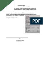 DECLARACION JURAD SALVADOR FLORES