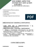 ACUERDOS SOBRE ASPECTOS SOCIOECONOMICOS Y SITUACION AGRARIA