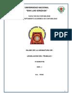 LEGISLACIÓN DEL TRABAJO I