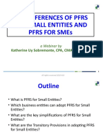 Key Differences of PFRS for Small Entities and PFRS for SMEs