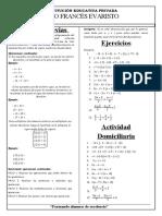 Algebra - intermedio - numeros enteros y ecuaciones lineales