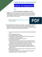 manual FV PDT formulario renta virtual 710 SIMPLIFICADO 2019