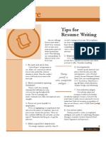 Tips Resume Writing