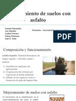 Estabilización de suelos con Asfalto