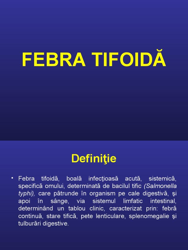 pierderea în greutate după febra tifoidă