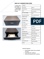 TDS Halonix UV -C Disinfection oven