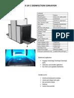 TDS Halonix UV -C Sterilizer Conveyor
