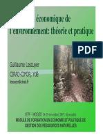 Evaluation Economique de l'environnement (PDF)