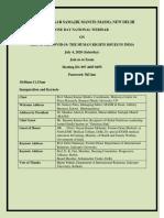 MASM Webinar Programme Schedule
