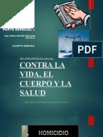 DERECHO PENAL PARTE ESPECIAL I - QUINTA SEMANA
