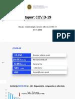Raportul COVID-19 privind situația epidemiologică la 3 iulie 2020 (ora 10:00)