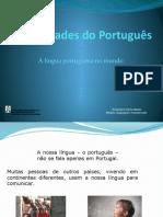 variedades do português