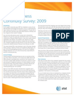 Business Continuity 2009 Survey Results