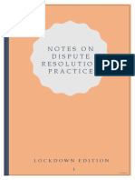 Notes on Dispute Resolution Practice