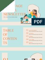 Language School Newsletter by Slidesgo.pptx