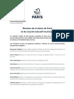 Élection de la maire de Paris et du nouvel exécutif municipal
