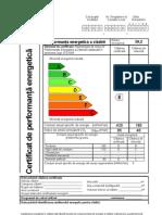 Certificat de Per for Manta Energetic A