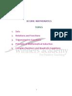 XI - CBSE Maths
