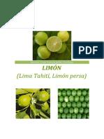 monografia del limon