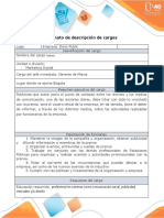 Anexo 2. Formato - descripción de cargos - Jhon Paez