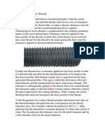 Tolerancing of Screw Threads