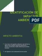 IDENTTIFICACIÓN IMPACTO AMBIENTAL