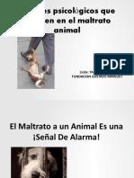 El Maltrato a un Animal Es una señal de alarma ¡