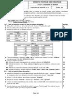 Bac info pratique 29-05-2019, Eco, 4 sujets