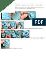 Fabric Pinwheel Flowers