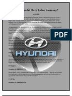 Will Hyundai Have Labor Peace