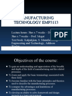 Introduction Manufacturing Technology Emp3113