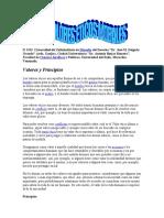 VALORES ETICOS MORALES EXPOSICION