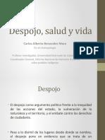 Presentación-Despojo-salud-y-vida-Carlos-Alberto-Benavides-Mora