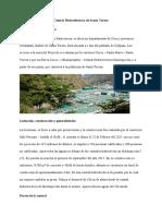 Resumen Central Hidroeléctrica de Santa Teresa