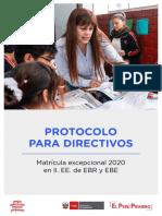 Protocolo Para Directivos