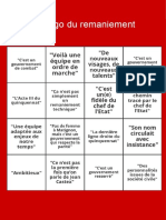 Le bingo du remaniement