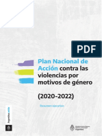 Plan Nacional de Acción contra las Violencias por Motivos de Género