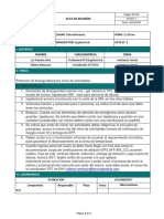 GD-F14 Acta de reunión Ingelectrical