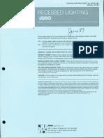 Juno Lighting Price Book Recessed Lighting 11-1988