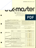 Juno Lighting Price Book Trac-Master Distributor 6-76