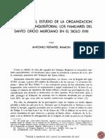 NOTAS PARA EL ESTUDIO DE LA ORGANIZACIÓN BUROCRÁTICA INQUISITORIAL LOS FAMILIARES DEL SANTO OFICIO MURCIANO EN EL SIGLO XVIII