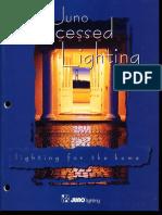 Juno Lighting Residential Recessed Downlighting Catalog 1995