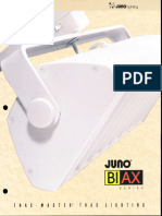 Juno Lighting Trac-Master Biax Series Brochure 1994
