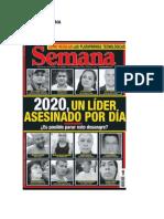 REVISTA SEMANA 18012020 EDICION 1968 2020 UN LIDER ASESINADO POR DIA